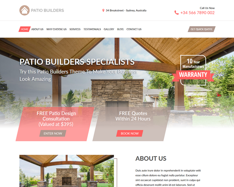 industry template builders first theme image