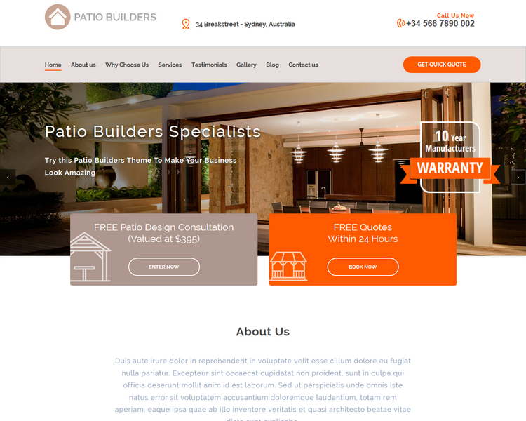 industry template builders second theme image