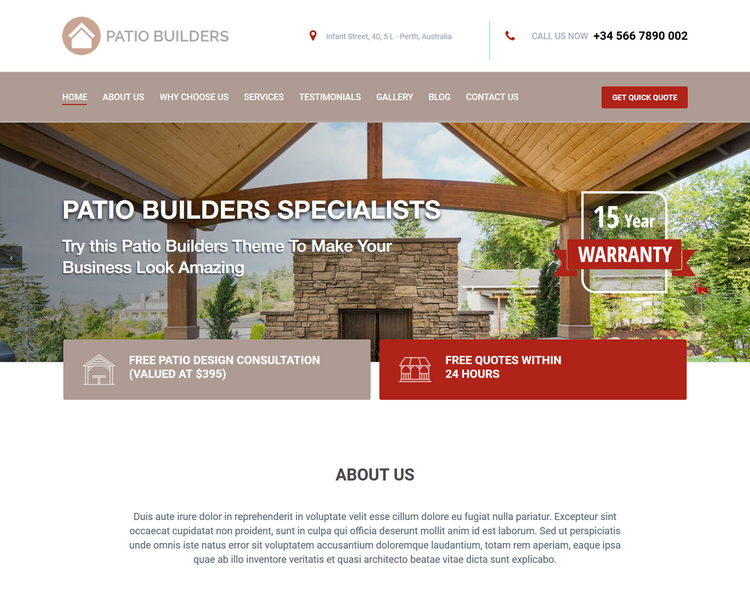 industry template builders third theme image