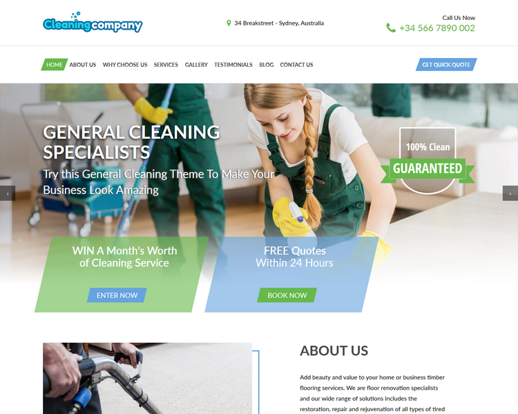 industry template cleaning first theme image