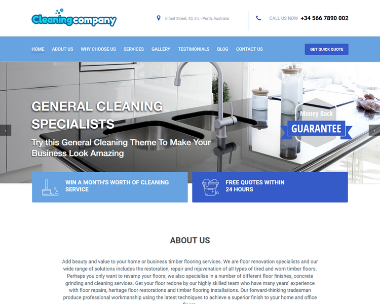 industry template cleaning third theme image