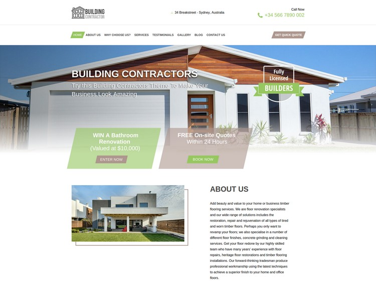 industry template constructions first theme image