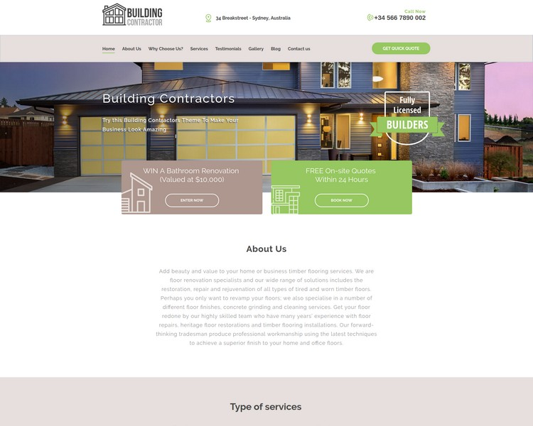 industry template constructions second theme image