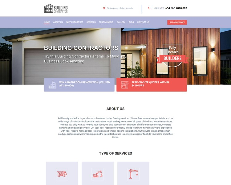 industry template constructions third theme image