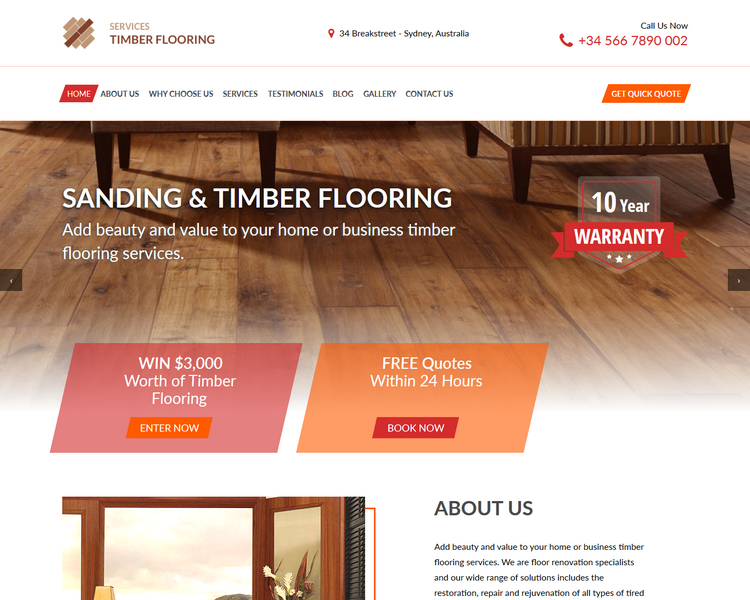industry template flooring first theme image