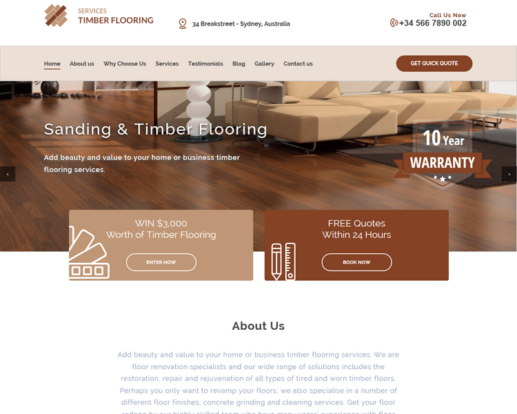 industry template flooring second theme image