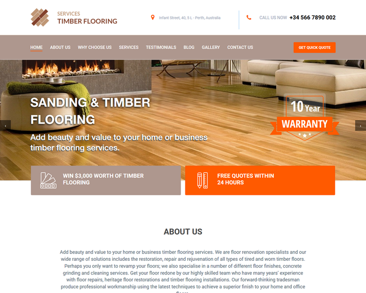 industry template flooring third theme image