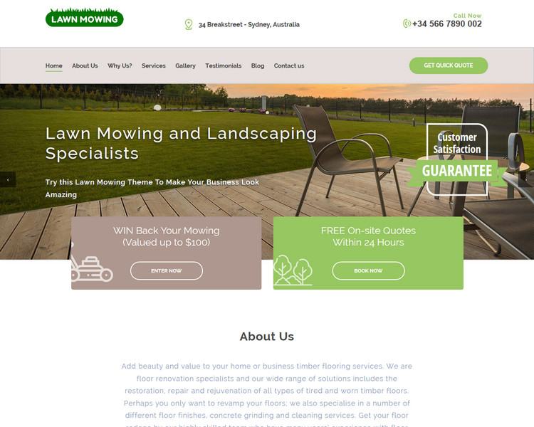 industry template landscaping second theme image