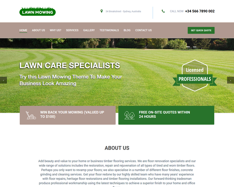 industry template landscaping third theme image