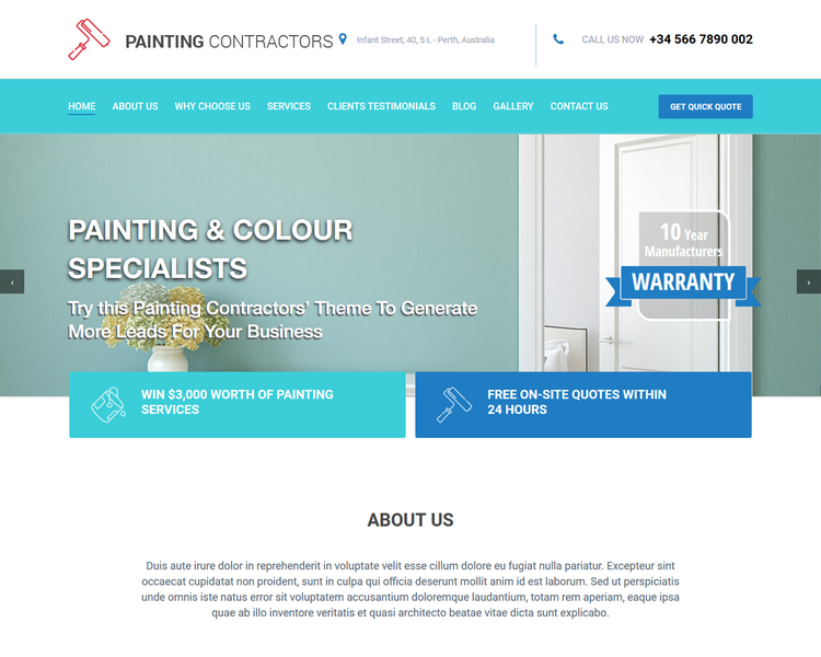 Pedestal - Painting Contractor Website Templates
